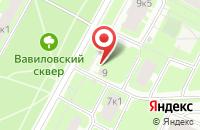 Схема проезда до компании Технопарк в Санкт-Петербурге