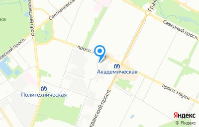 Местоположение на карте пункта техосмотра по адресу г Санкт-Петербург, пр-кт Науки, д 17 к 5 литер а