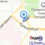 ЦВЕТОПТТОРГ на карте Санкт-Петербурга