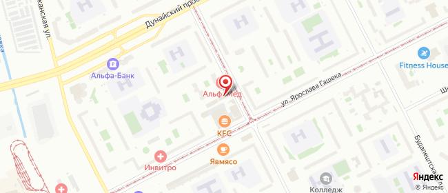 Карта расположения пункта доставки ул. Купчинская в городе Санкт-Петербург