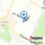 Авиаприбор на карте Санкт-Петербурга