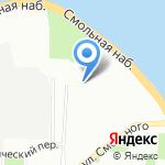 Смольный парк на карте Санкт-Петербурга