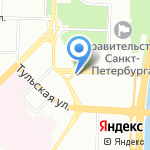ЮИТ Санкт-Петербург на карте Санкт-Петербурга