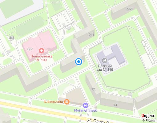 Жилищно-строительный кооператив «ЖСК № 913» на карте Санкт-Петербурга