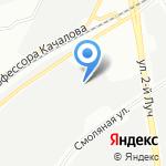 Русский крест на карте Санкт-Петербурга
