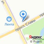 Дачник на карте Санкт-Петербурга