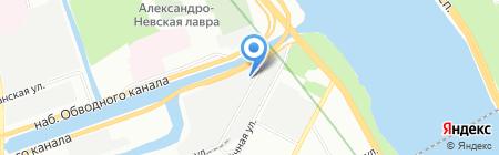 БалтТехСервис на карте Санкт-Петербурга