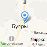 Мельница на бугре на карте Санкт-Петербурга