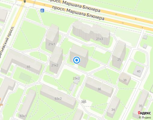 Жилищно-строительный кооператив «ЖСК-825» на карте Санкт-Петербурга