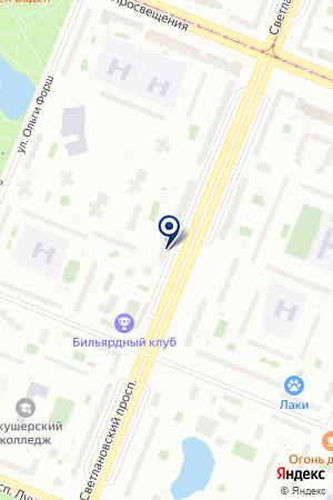 СТОМАТОЛОГИЧЕСКАЯ КЛИНИКА ИБН-СИНА на карте Санкт-Петербурга