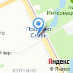 Агентство занятости населения Фрунзенского района на карте Санкт-Петербурга