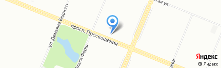Радуга Цветов на карте Санкт-Петербурга