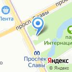 Церковь святого великомученика Георгия Победоносца на карте Санкт-Петербурга