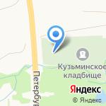 Часовня Благовещения Пресвятой Богородицы на Кузьминском кладбище на карте Санкт-Петербурга