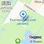 Агатовые комнаты на карте Санкт-Петербурга