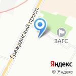 Гражданка на карте Санкт-Петербурга