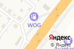 Схема проезда до компании WOG CAFE в Чабанях