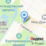 Знаменская церковь на карте Санкт-Петербурга