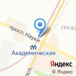 Книжный магазин на карте Санкт-Петербурга