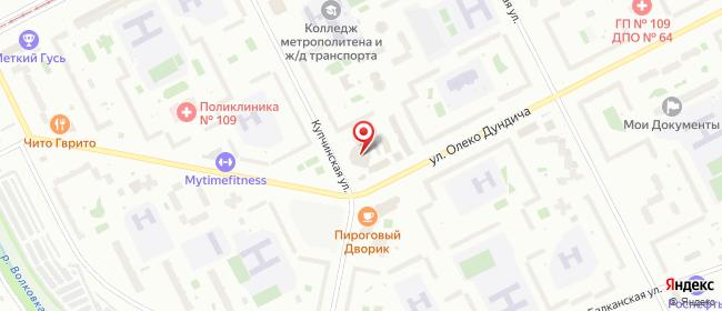 Карта расположения пункта доставки Санкт-Петербург Купчинская в городе Санкт-Петербург