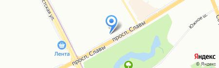 Альпенхоф на карте Санкт-Петербурга