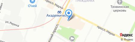 Nord wind на карте Санкт-Петербурга