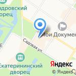 Салон сувениров на карте Санкт-Петербурга