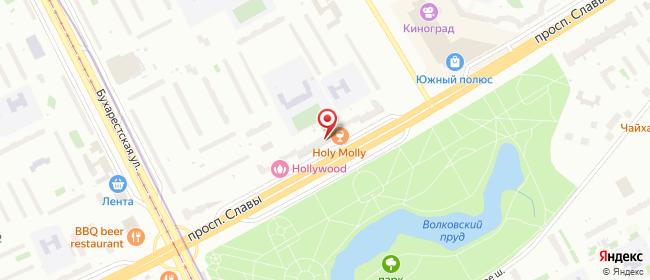 Карта расположения пункта доставки Санкт-Петербург Славы в городе Санкт-Петербург