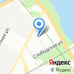 Фабрика рекламы на карте Санкт-Петербурга