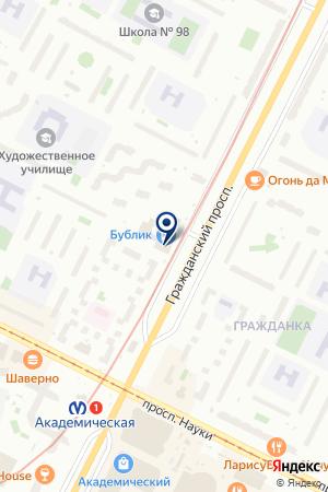 САЛОН КРАСОТЫ АКВАРЕЛЬ на карте Санкт-Петербурга
