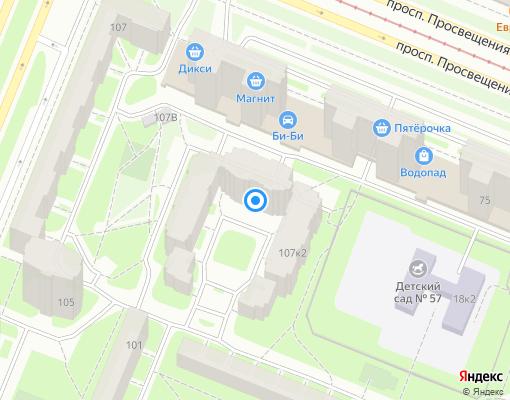Товарищество собственников жилья «Прометей» на карте Санкт-Петербурга