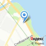 Балтийская игрушка на карте Санкт-Петербурга