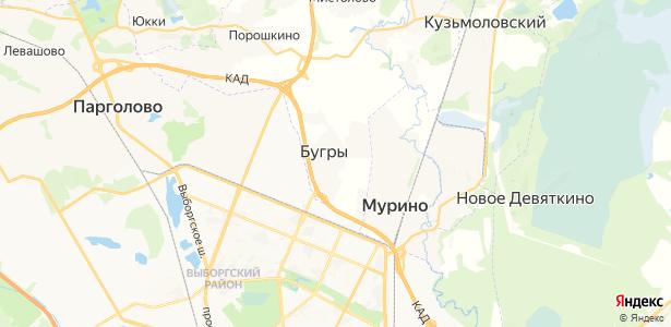 Бугры на карте