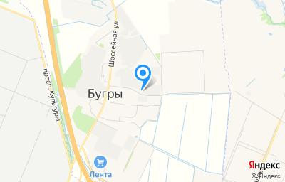 Местоположение на карте пункта техосмотра по адресу Ленинградская обл, Всеволожский р-н, п Бугры, проезд Гаражный, д 3А стр а