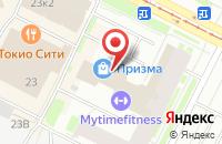 Схема проезда до компании Танико в Санкт-Петербурге