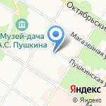 Царскосельское на карте Санкт-Петербурга