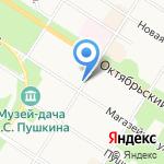 Восхождение на карте Санкт-Петербурга
