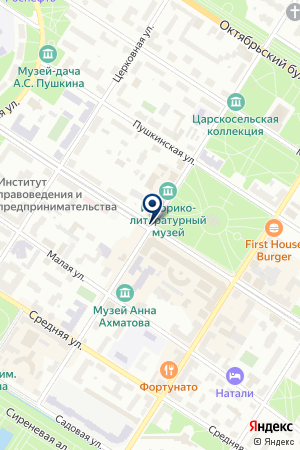 ПРОИЗВОДСТВЕННО-ТОРГОВОЕ ПРЕДПРИЯТИЕ АВТОСТАРТ на карте Пушкина