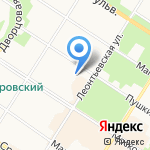 Калинка на карте Санкт-Петербурга