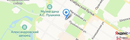 Пушкинская недвижимость на карте Санкт-Петербурга