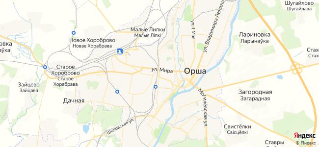 Гостиницы Орши - объекты на карте