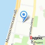 Муниципальное образование округ Малая Охта на карте Санкт-Петербурга