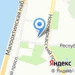 Пинстрой на карте Санкт-Петербурга