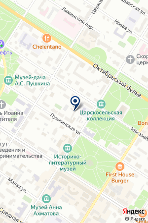АГЕНТСТВО НЕДВИЖИМОСТИ КОРФ на карте Пушкина