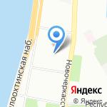 Врачебно-физкультурный диспансер Красногвардейского района на карте Санкт-Петербурга