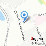 Сандал на карте Санкт-Петербурга