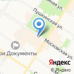 Турлидер на карте Санкт-Петербурга
