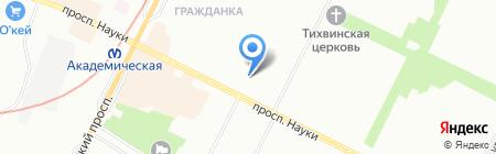 Средняя общеобразовательная школа №121 на карте Санкт-Петербурга