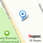 Добротная марка на карте Санкт-Петербурга