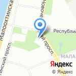 Лицей №533 на карте Санкт-Петербурга